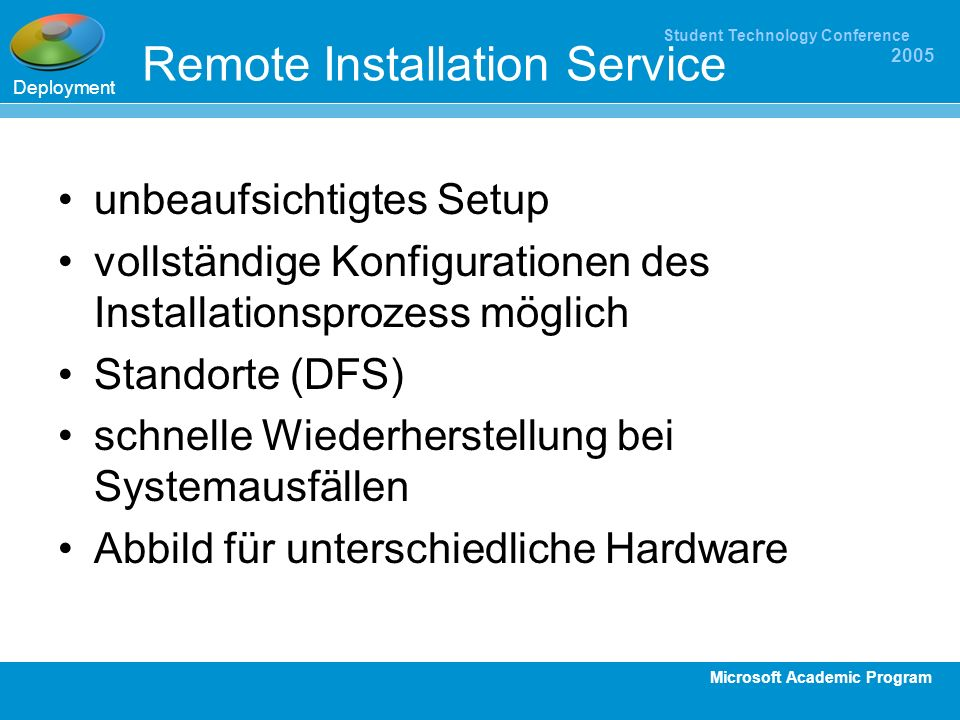 Remote Installation Service