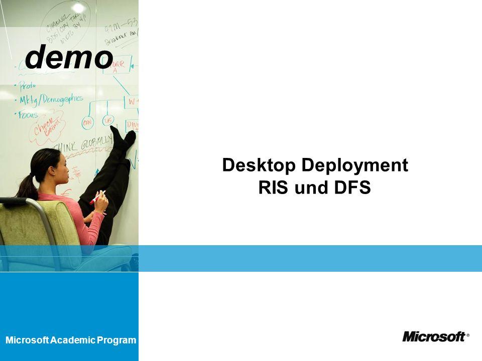 Desktop Deployment RIS und DFS