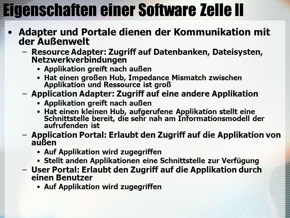 Eigenschaften einer Software Zelle II