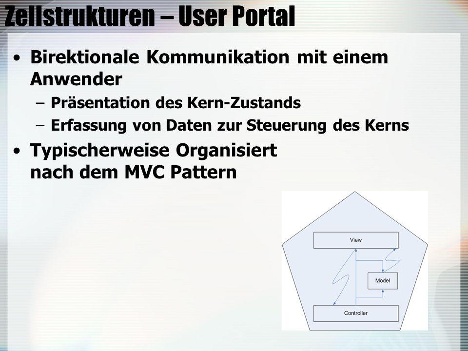 Zellstrukturen – User Portal