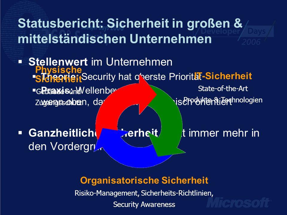 Statusbericht: Sicherheit in großen & mittelständischen Unternehmen