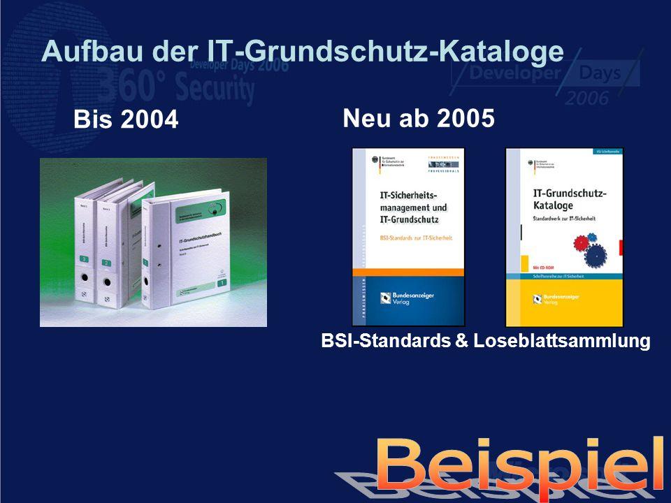 Aufbau der IT-Grundschutz-Kataloge