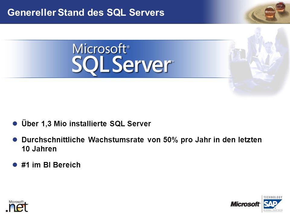 Genereller Stand des SQL Servers