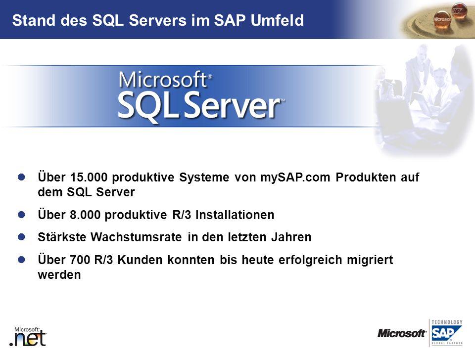 Stand des SQL Servers im SAP Umfeld