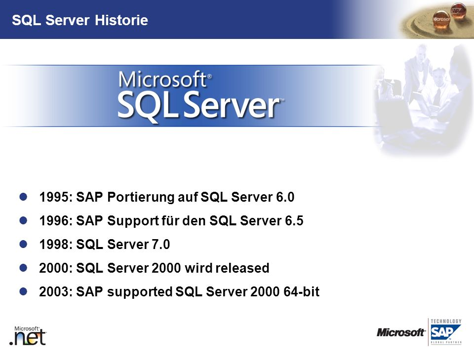 SQL Server Historie 1995: SAP Portierung auf SQL Server 6.0