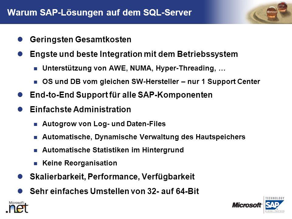 Warum SAP-Lösungen auf dem SQL-Server