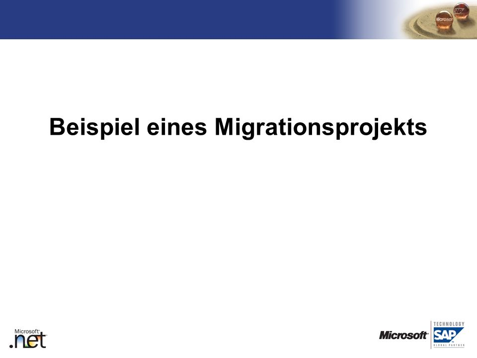 Beispiel eines Migrationsprojekts