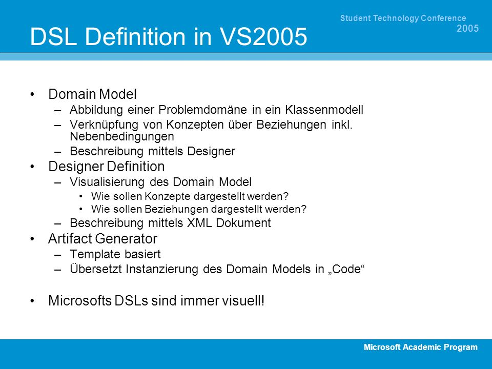 DSL Definition in VS2005 Domain Model Designer Definition