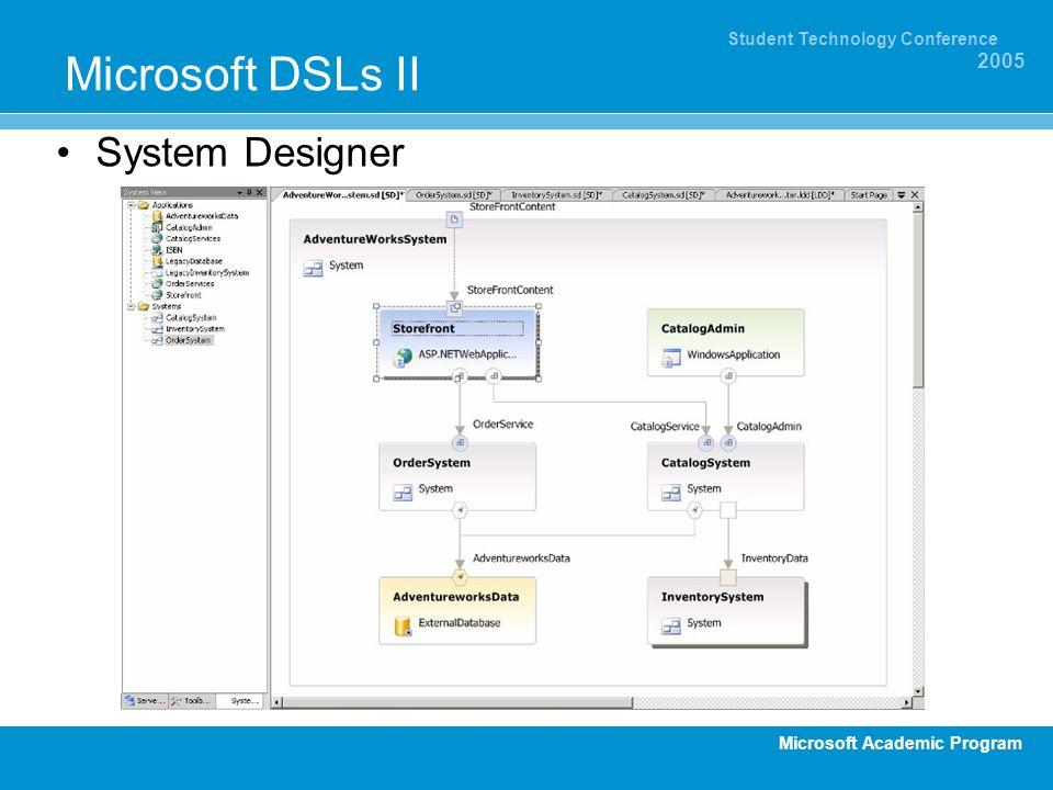 Microsoft DSLs II System Designer