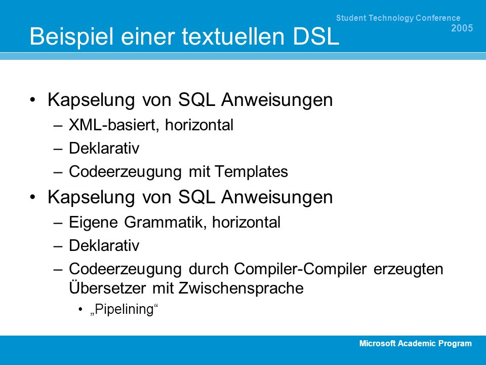 Beispiel einer textuellen DSL