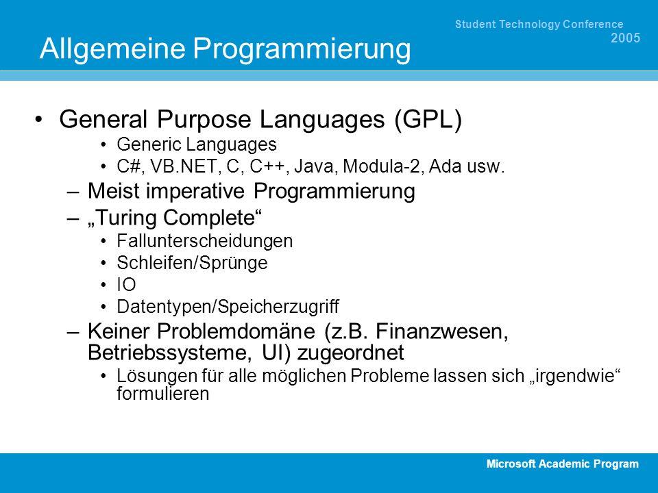 Allgemeine Programmierung