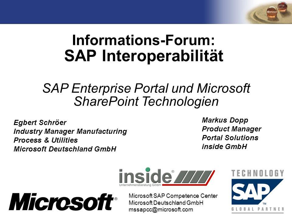 Informations-Forum: SAP Interoperabilität
