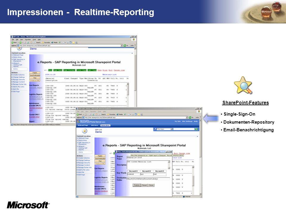 Impressionen - Realtime-Reporting