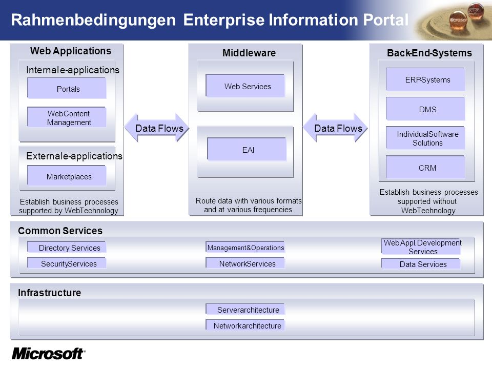 Rahmenbedingungen Enterprise Information Portal