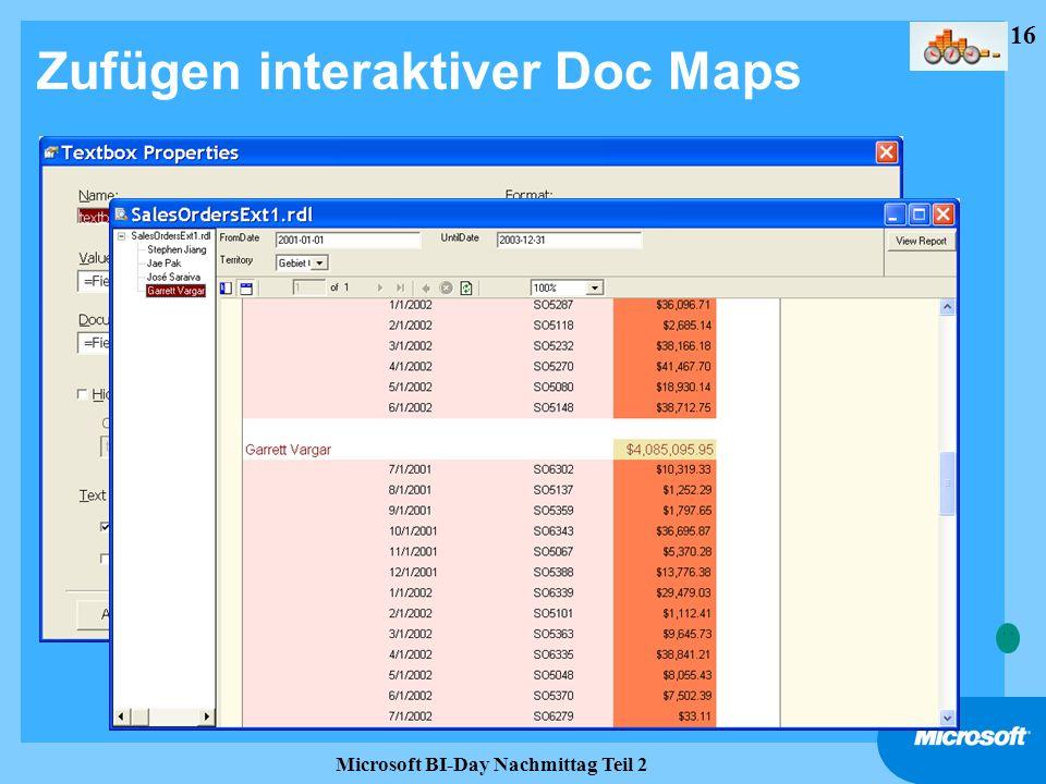 Zufügen interaktiver Doc Maps