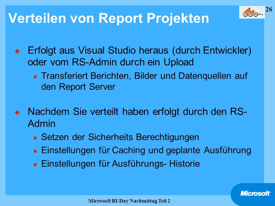 Verteilen von Report Projekten