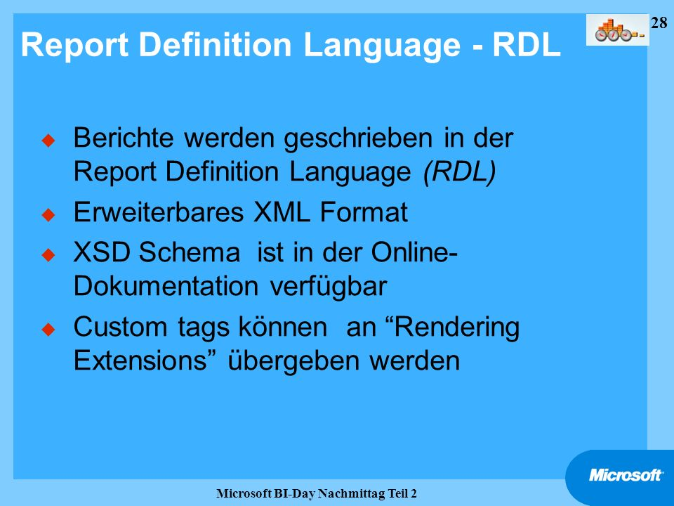Report Definition Language - RDL