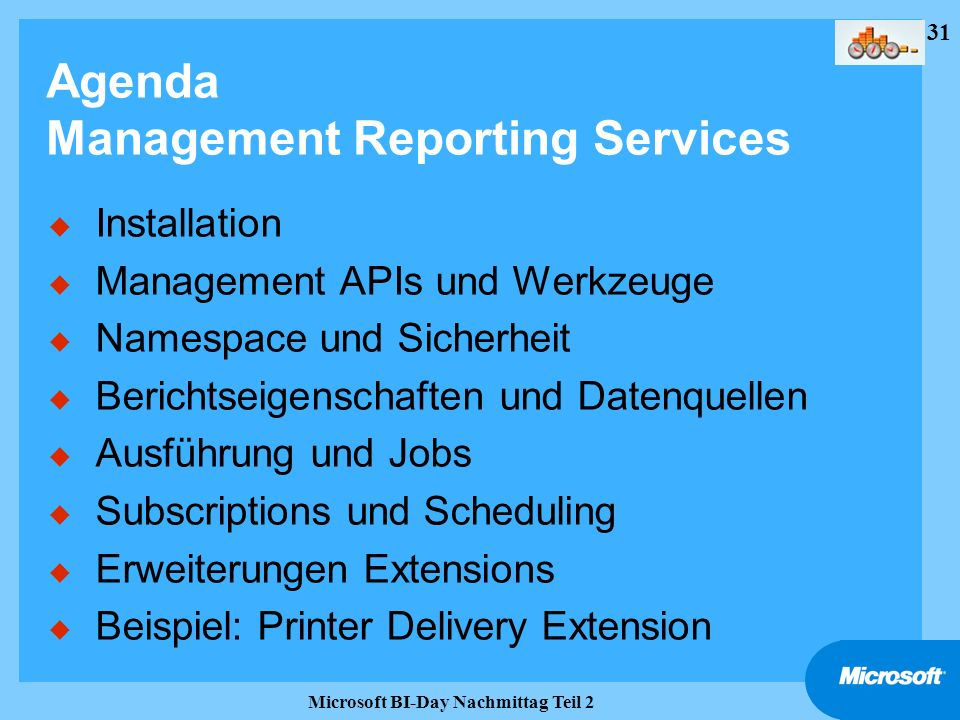 Agenda Management Reporting Services