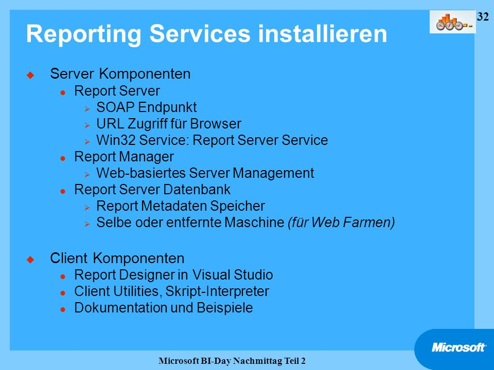 Reporting Services installieren