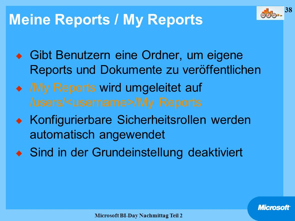 Meine Reports / My Reports