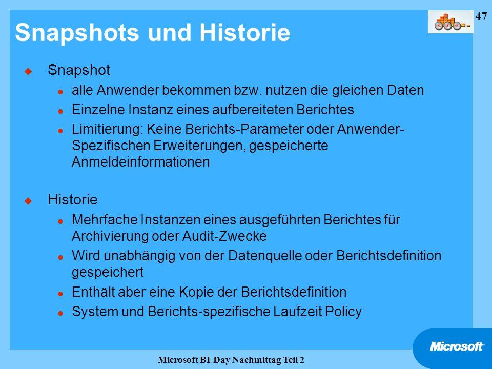 Snapshots und Historie