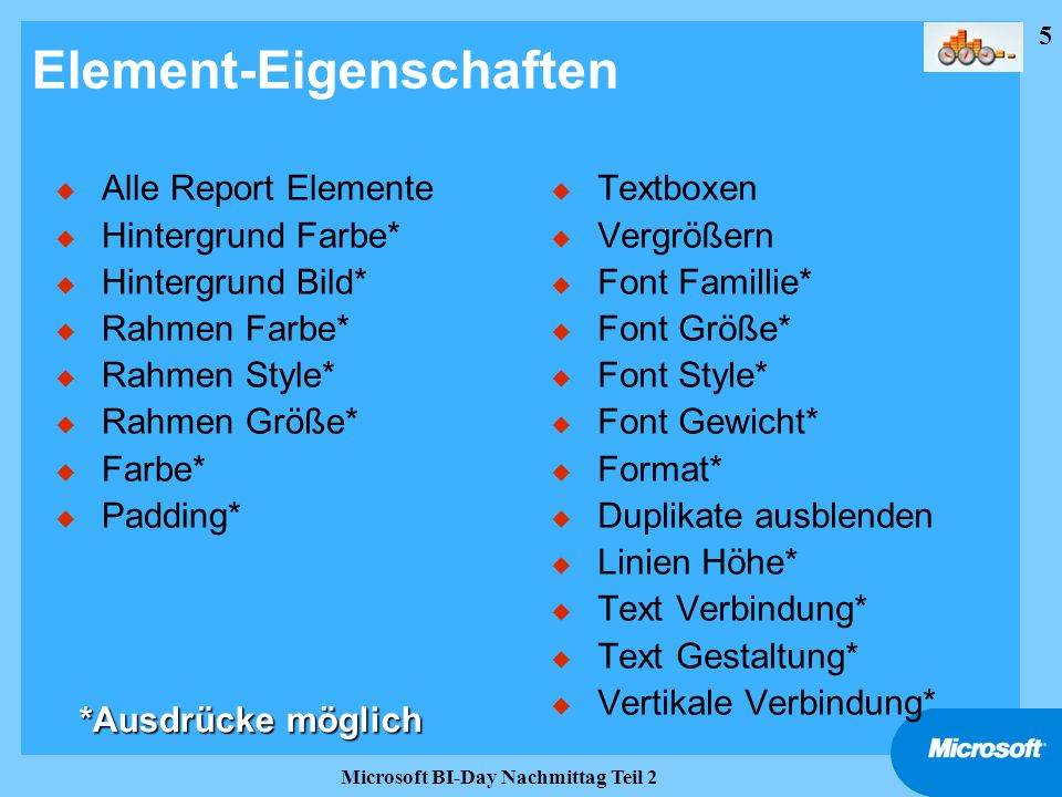 Element-Eigenschaften