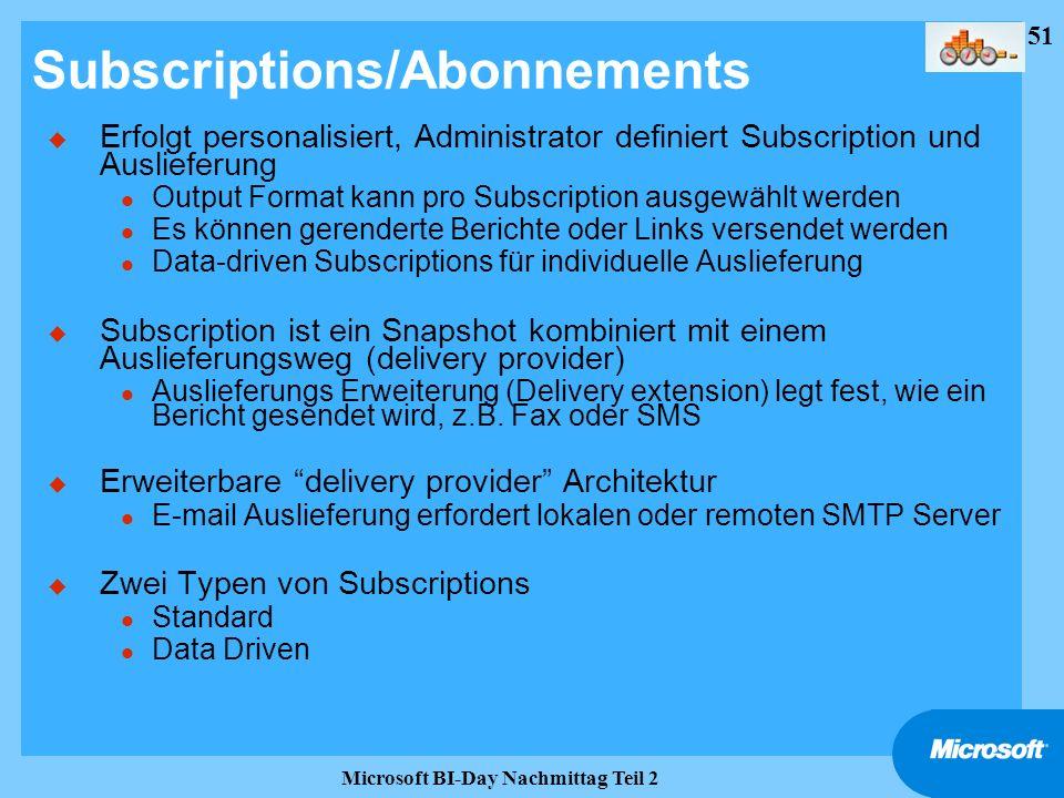 Subscriptions/Abonnements