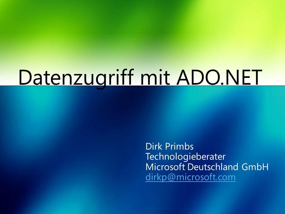 Datenzugriff mit ADO.NET