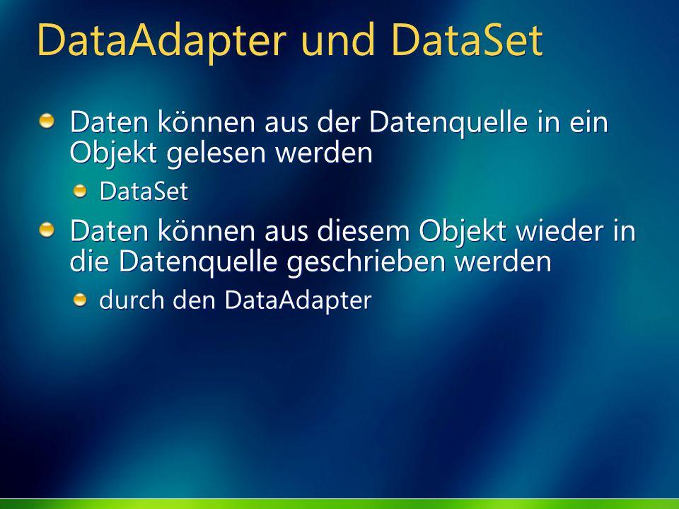 DataAdapter und DataSet