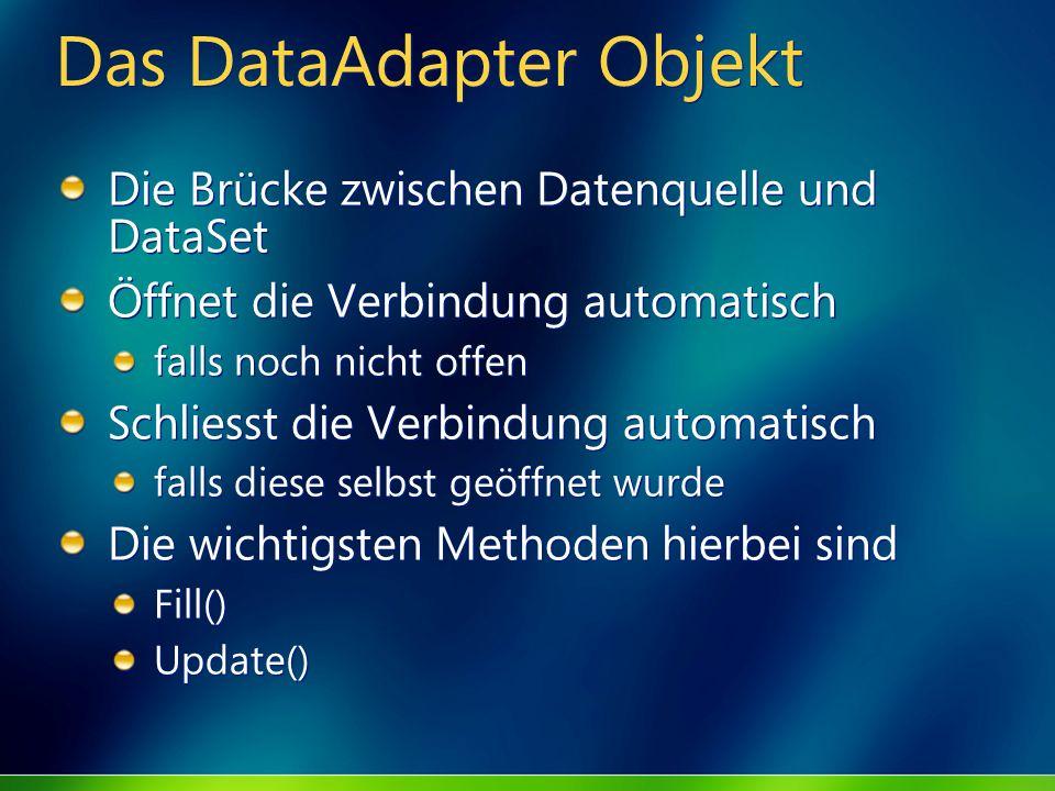 Das DataAdapter Objekt