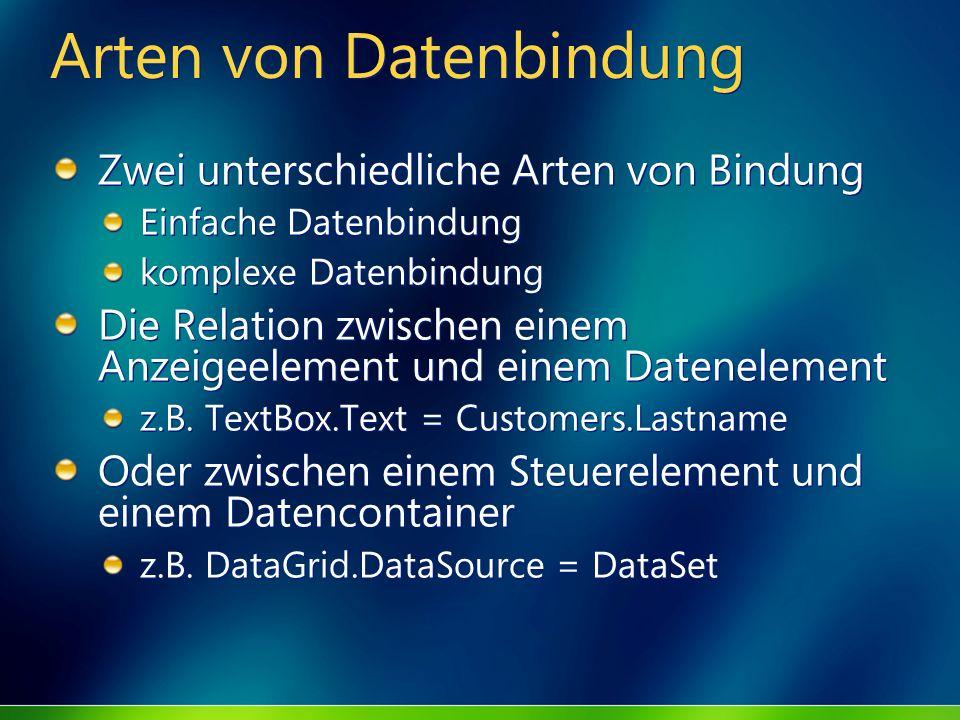 Arten von Datenbindung