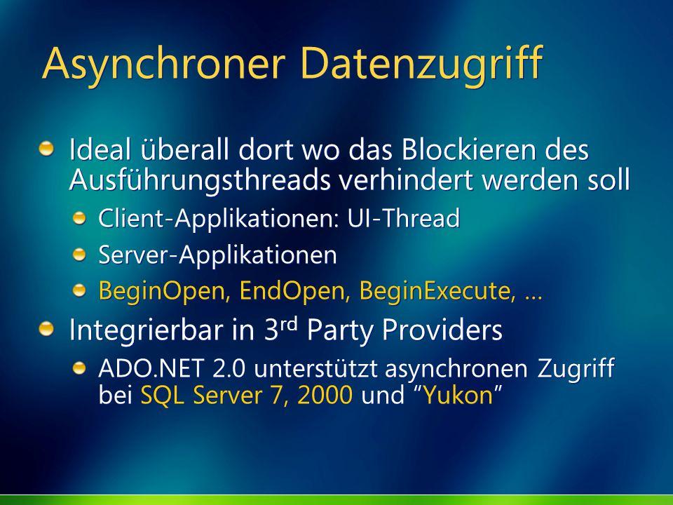 Asynchroner Datenzugriff