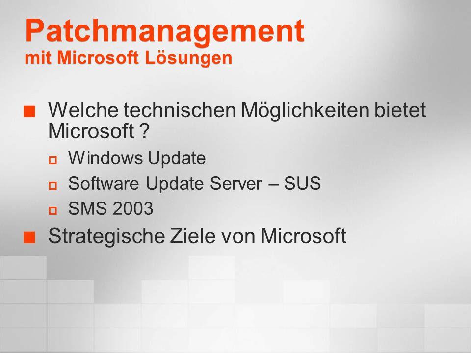 Patchmanagement mit Microsoft Lösungen