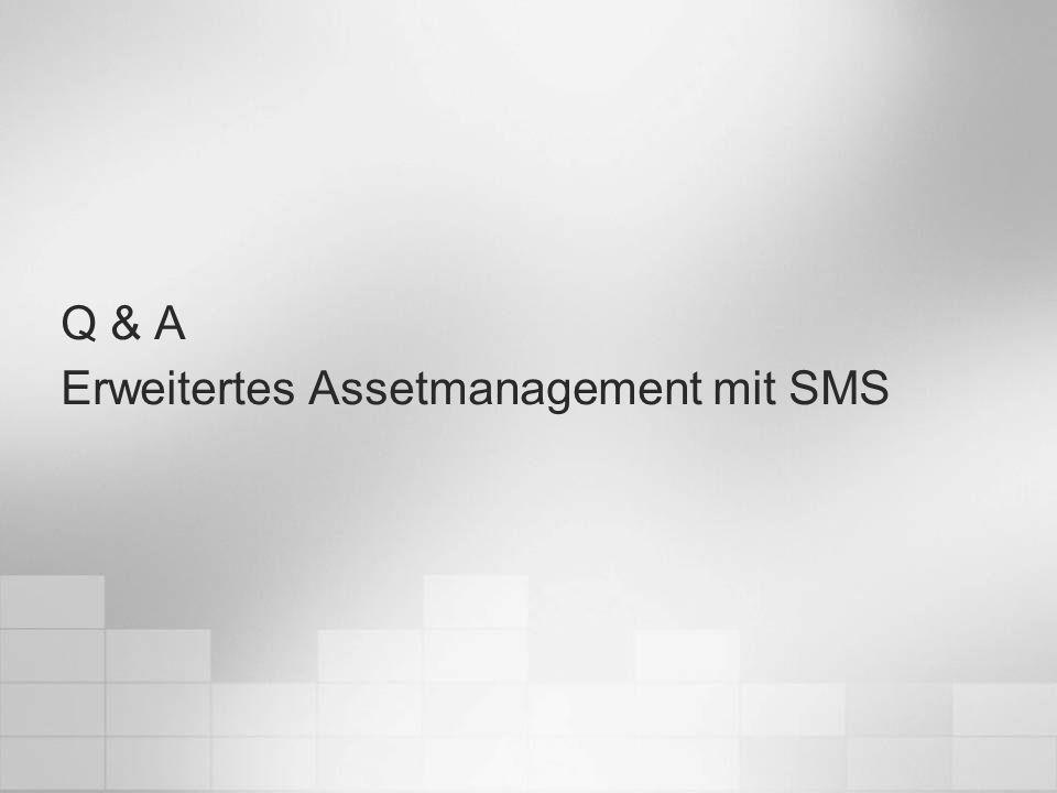 Erweitertes Assetmanagement mit SMS