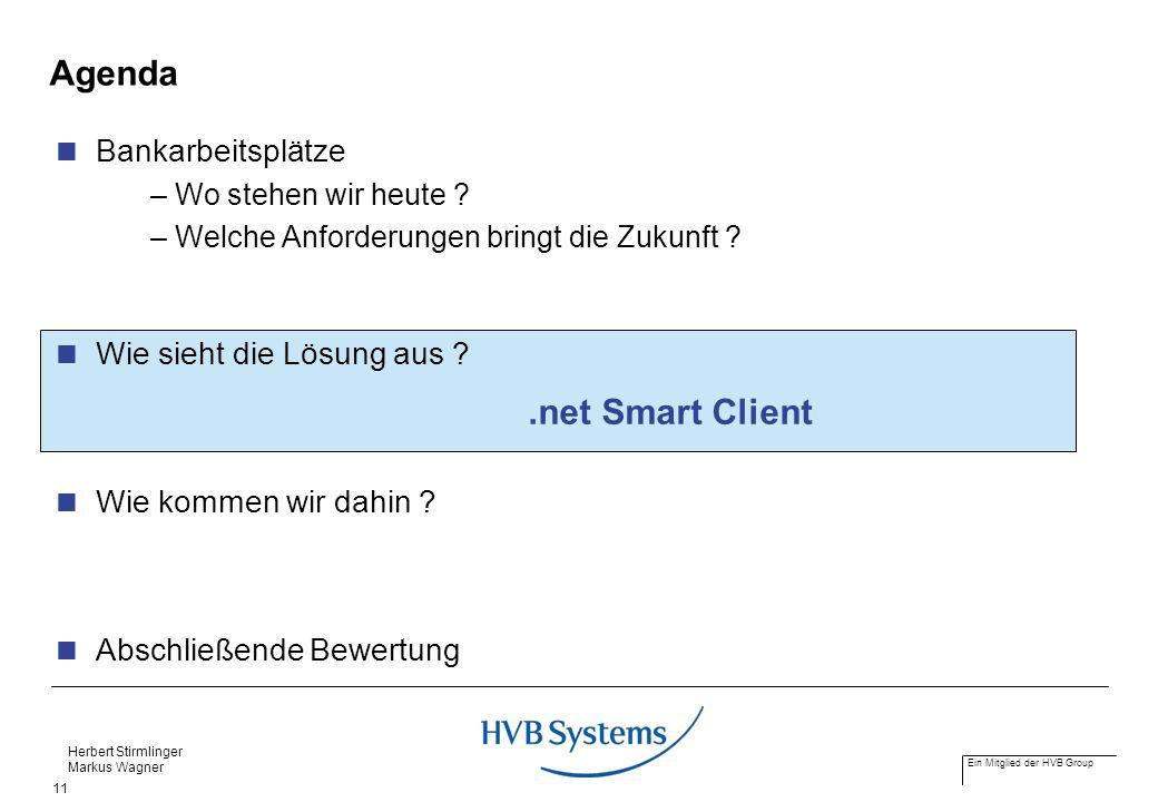 Agenda .net Smart Client Bankarbeitsplätze Wie sieht die Lösung aus