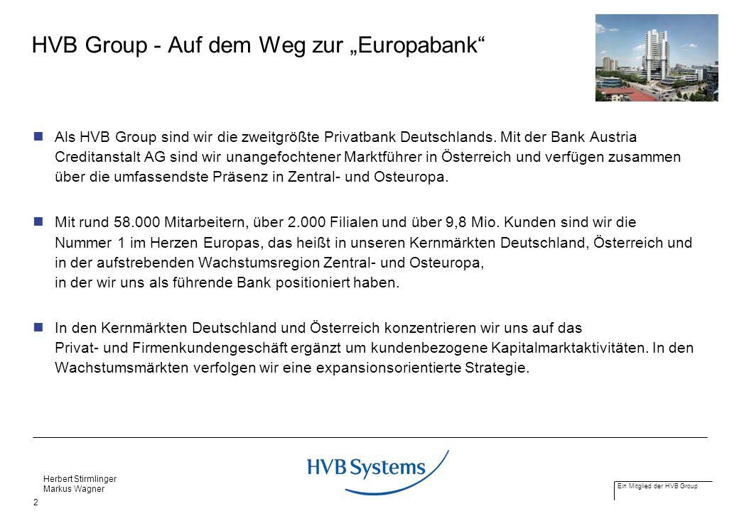 """HVB Group - Auf dem Weg zur """"Europabank"""