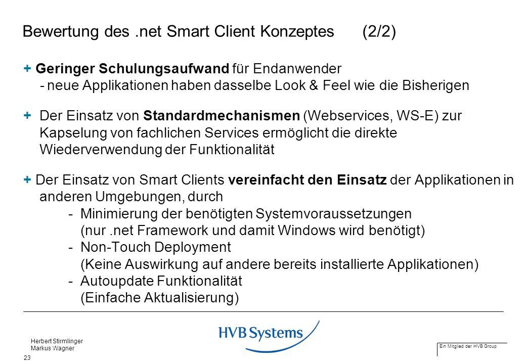 Bewertung des .net Smart Client Konzeptes (2/2)