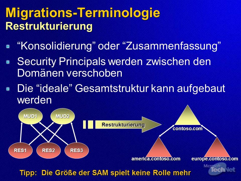 Migrations-Terminologie Restrukturierung