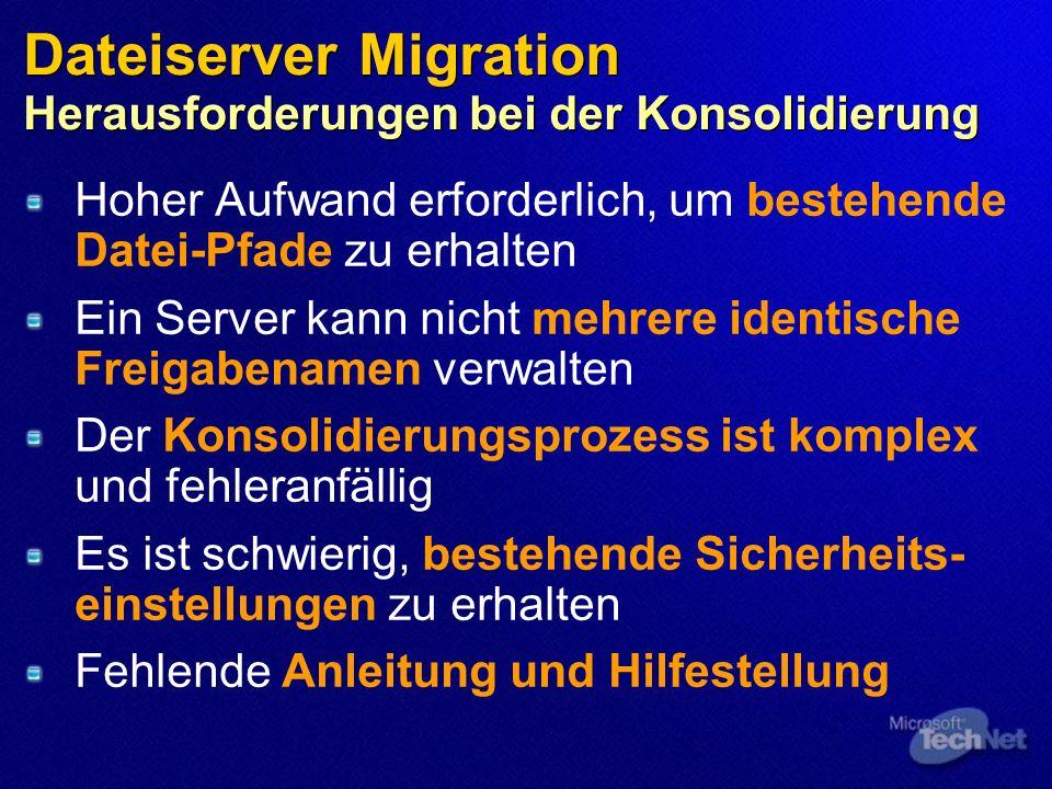 Dateiserver Migration Herausforderungen bei der Konsolidierung
