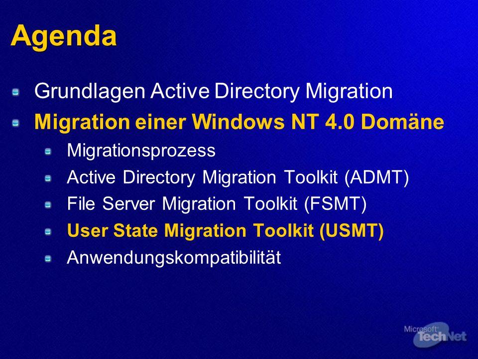 Agenda Grundlagen Active Directory Migration
