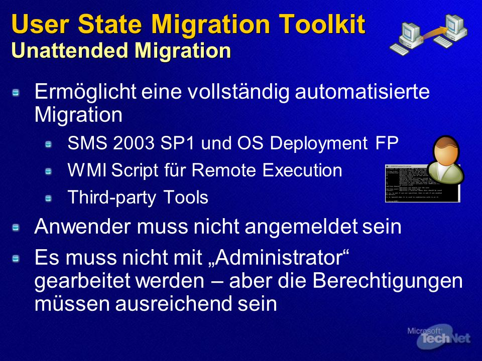 User State Migration Toolkit Unattended Migration