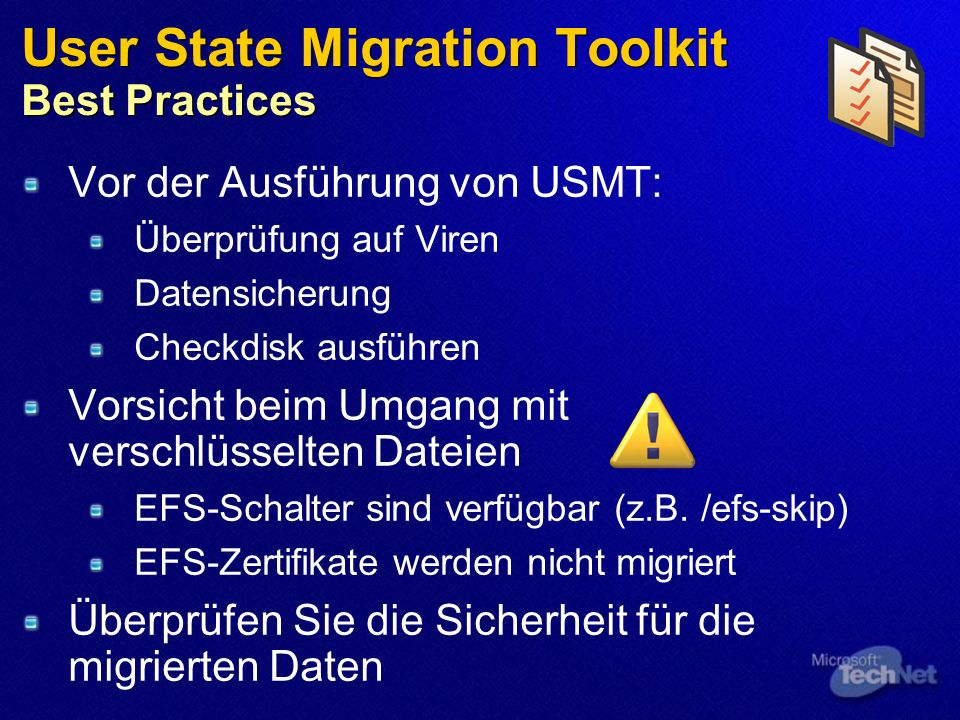 User State Migration Toolkit Best Practices