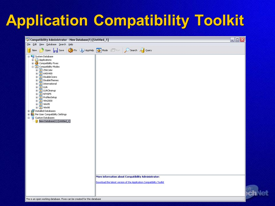 Application Compatibility Toolkit