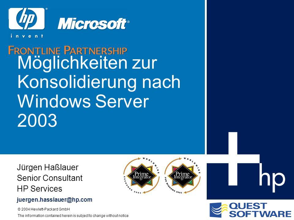 Möglichkeiten zur Konsolidierung nach Windows Server 2003