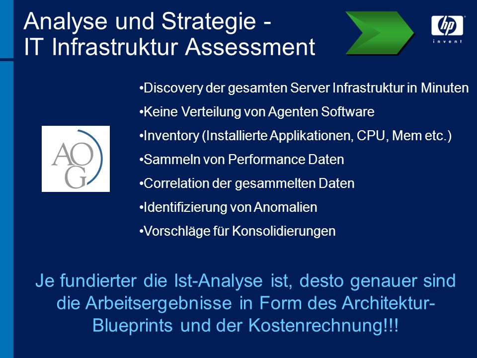Analyse und Strategie - IT Infrastruktur Assessment