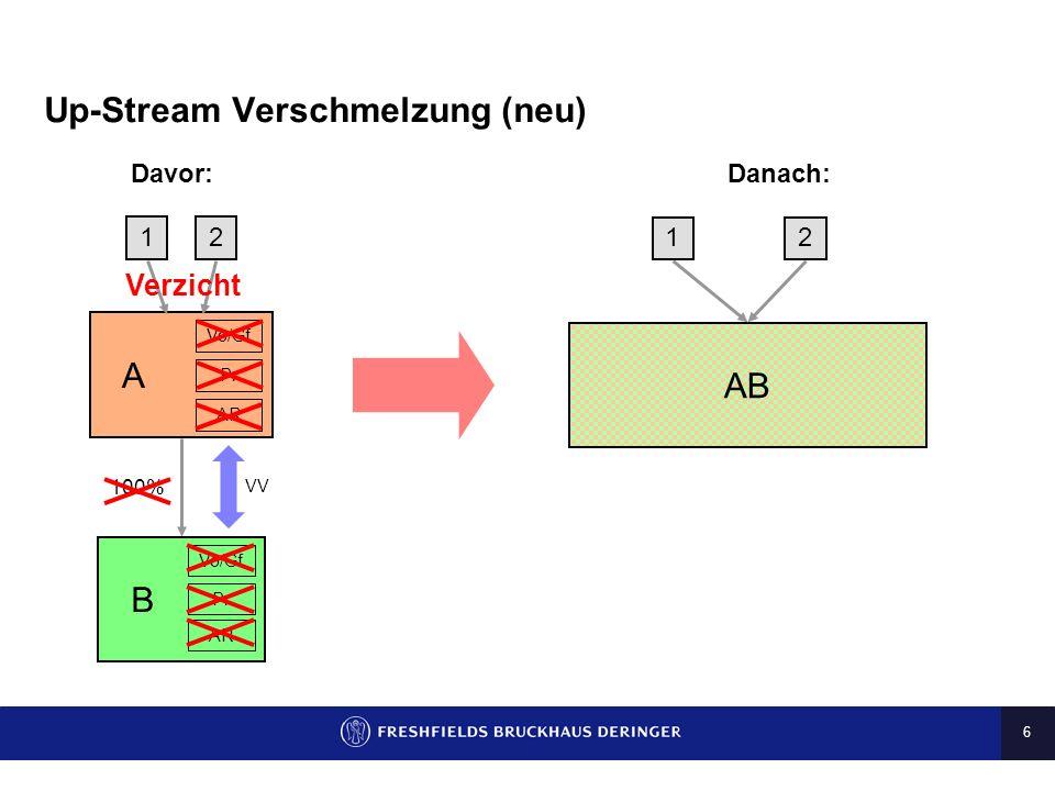 Up-Stream Verschmelzung (neu)