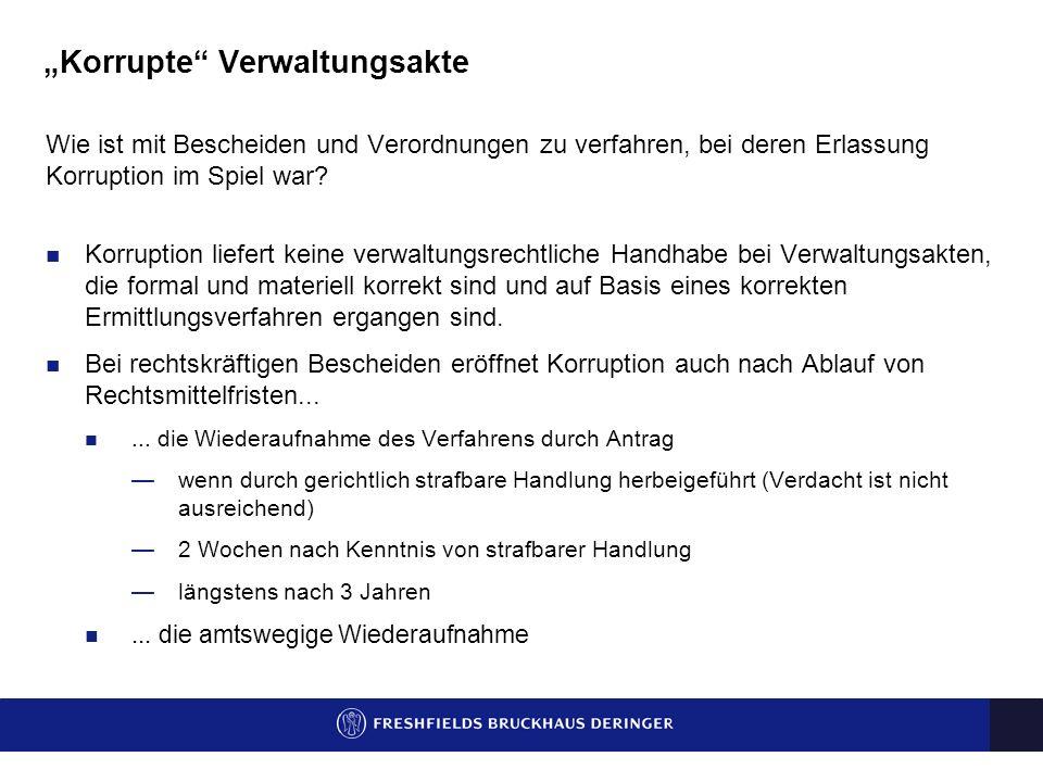"""""""Korrupte Verwaltungsakte"""