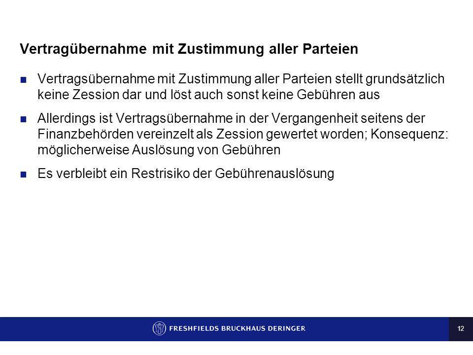 Vertragübernahme mit Zustimmung aller Parteien