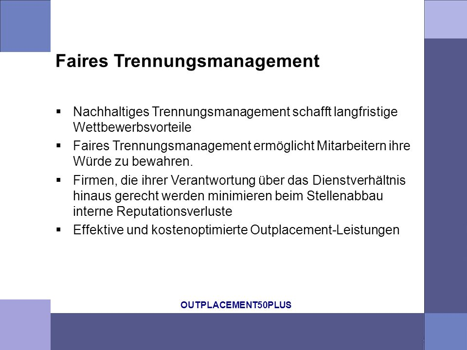 Faires Trennungsmanagement