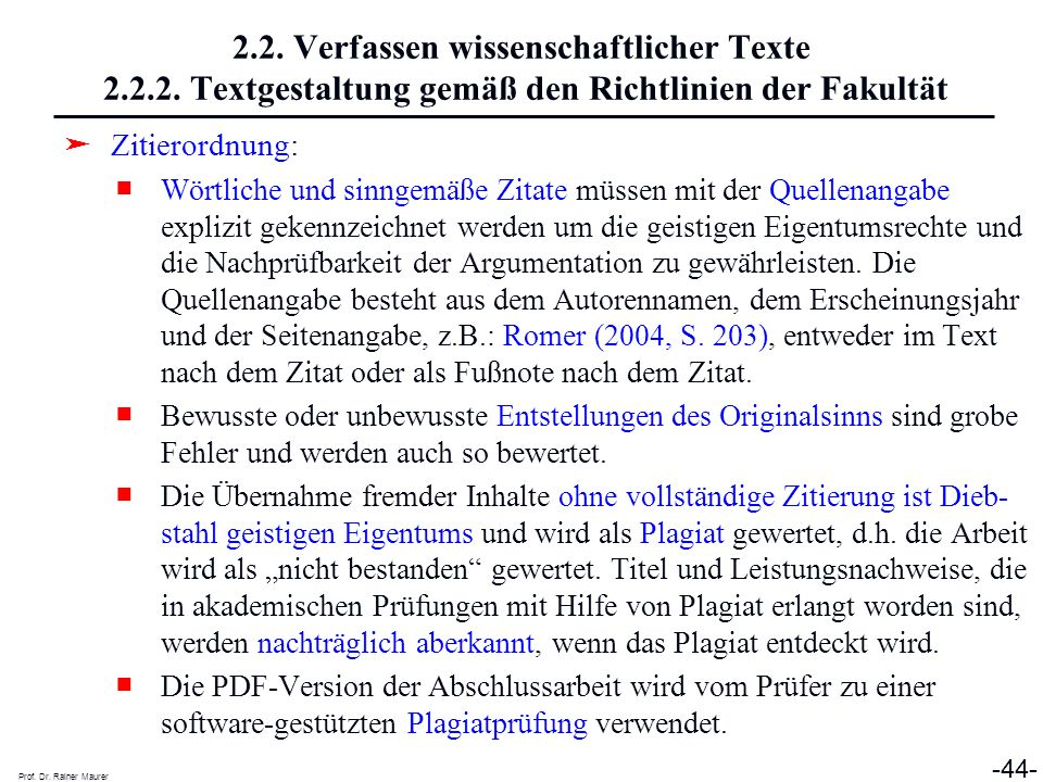 2. 2. Verfassen wissenschaftlicher Texte 2. 2. 2